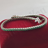 Bijuterii Argint - Bratara argint cu rasina smarald - AG223