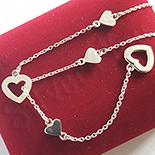 - Colier argint 925 cu inimioare - AG237