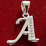 Bijuterii Argint - Pandantiv argint rodiat  925 litera A - AG241