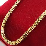 Lant aurit cu aur de 14K - 60 cm/3 mm - ZS778