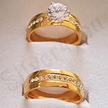 Set verighete si inel inox aurit zirconii - BR6350A