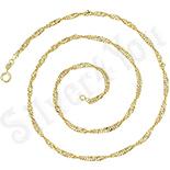 Lant aurit cu aur de 14K 49 cm/3 mm - ZS1092