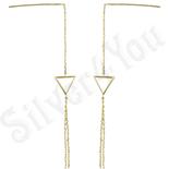 Cercei auriti cu aur de 14K 8.1 cm/1.1 cm - ZS1099