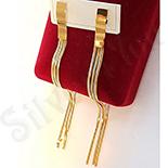Cercei auriti cu aur de 14K 10.5 cm/5 mm - ZS1132