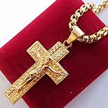 Pandantiv cu lant in culoarea aurului 14K - ZS1133