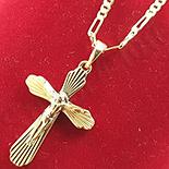Cruce cu lant aurite cu aur 14K - ZS1088A