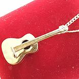 PANDANTIVE - Lant cu pandantiv chitara aurit cu aur 14K - ZS1089A