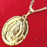 Pandantiv cu lant aurit cu aur de 14k - ZS1090A