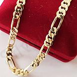 Cadouri Femei 1-8 Martie - Lant aurit cu aur de 14K 60 cm/6 mm - ZS1096