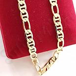 Cadouri Femei 1-8 Martie - Lant aurit cu aur de 14K - 50 cm/5 mm - ZS1107