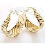 Cadouri Femei 1-8 Martie - Cercei auriti cu aur 14K si zirconii albe - ZS1110