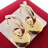 Cadouri Femei 1-8 Martie - Cercei auriti cu aur 14K si zirconii albe - ZS1112
