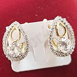 Cercei auriti cu aur 14K si zirconii albe - ZS1113