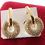 Cercei auriti cu aur 14K si zirconii albe - ZS1116