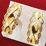 Cercei auriti cu aur 14K si zirconii albe - ZS1118