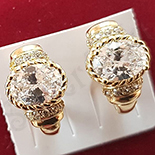 Cercei auriti cu aur 14K si zirconii albe - ZS1119