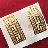 Cercei auriti cu aur 14K si zirconii albe - ZS1122