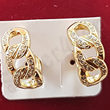 Cercei auriti cu aur 14K si zirconii albe - ZS1123