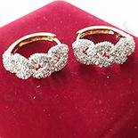 Cadouri Femei 1-8 Martie - Cercei auriti cu aur 14K si zirconii albe - ZS1125