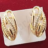 Cercei auriti cu aur 14K si zirconii albe - ZS1126