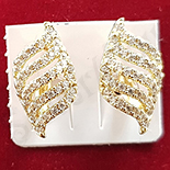 Cercei auriti cu aur 14K si zirconii albe - ZS1127