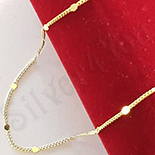 Cadouri Femei - Lant aurit cu aur 14K - 45 cm/1 mm - ZS1147