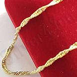 Lant aurit cu aur de 14K rasucit  45 cm/2 mm - ZS1148