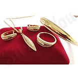 Set cercei, pandantiv, inel, bratara si lant aurit cu aur 14K - ZS1150