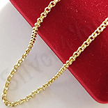 Cadouri Femei 1-8 Martie - Lant aurit cu aur de 14K 40 cm/2 mm - ZS1158