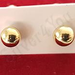Cercei auriti cu aur 14K - 4 mm - ZS1162