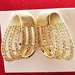 Cercei auriti cu aur de 14K si zirconii albe - ZS1143