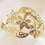 Inel aurit cu aur 14K zirconii albe - ZS1174