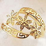 Cadouri Femei 1-8 Martie - Inel aurit cu aur 14K zirconii albe - ZS1174