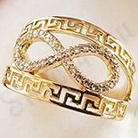 Inel aurit cu aur  14K si zirconii albe - ZS1175