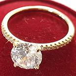 Inel aurit cu aur 14K si zirconii albe - ZS1176
