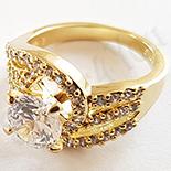 Inel aurit cu aur 14K si zirconii albe - ZS1178