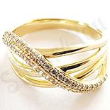 - Inel in culoarea aurului 14K zirconii albe - ZS1179