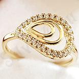 Inel aurit cu aur 14K si zirconii albe - ZS1180
