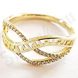 Inel aurit cu aur 14K si zirconii albe - ZS1183