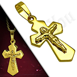 Crucifix inox aurit - PK809