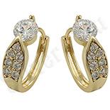 Cadouri Femei 1-8 Martie - Cercei in culoarea aurului 14K zirconii albe - ZS929