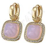 Cadouri Femei 1-8 Martie - Cercei in culoarea aurului 14K roz - ZS933