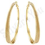 Cadouri Femei 1-8 Martie - Cercei in culoarea aurului 14K 6.4 cm/7 mm - ZS943