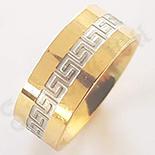 Bijuterii Inox - Inel inox aurit cu model grecesc - BR955A