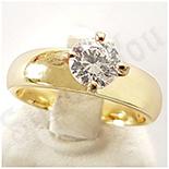 Inel in culoarea aurului 14K zirconii albe - ZS501