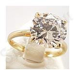 Cadouri de Craciun - Inel logodna aurit cu aur de 14K - ZS910