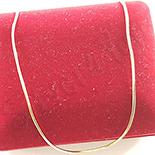 Lant aurit cu aur de 14K - 45-50 cm/1 mm - ZS961