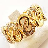 Inel in culoarea aurului 14K zirconii albe - ZS550