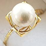 Inel in culoarea aurului 14K perle albe - ZS551