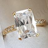 INELE - Inel in culoarea aurului 14K zirconii albe - ZS552